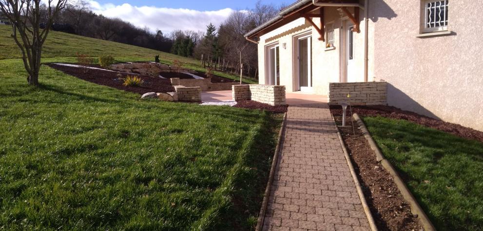 Création d'une terrasse paysagère